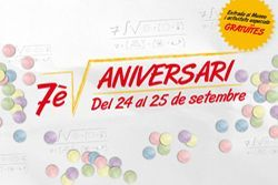 Fiestas de la mercè y 7º aniversario de Cosmocaixa, Barcelona