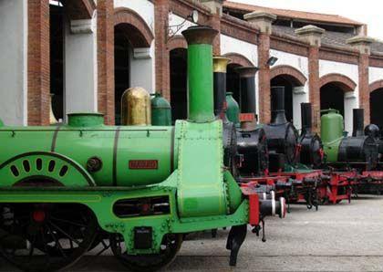 Museu del ferrocarril, vilanova i la geltrú (Barcelona)