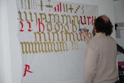 Taller: 'Caligrafía del renacimiento', biblioteca nacional, Madrid