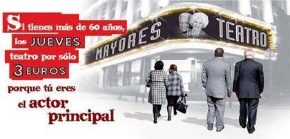 'Mayores al teatro', comunidad de Madrid