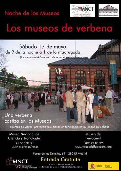 La noche y el día de los museos en el museo nacional de ciencia y tecnología , Madrid