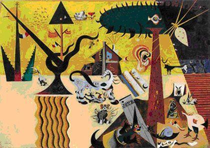 'Miró: tierra', museo thyssen-bornemisza, Madrid