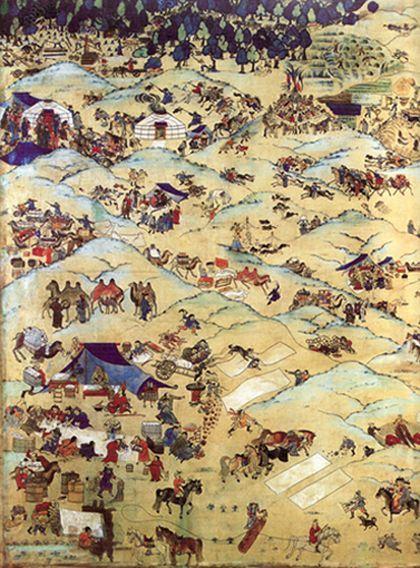 'Un día en mongolia', la lonja, Zaragoza