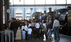 La noche y el día de los museos en el Museo del Ferrocarril, Madrid
