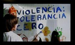 'Violencia: tolerancia cero', plaza mayor, el ejido (almería)