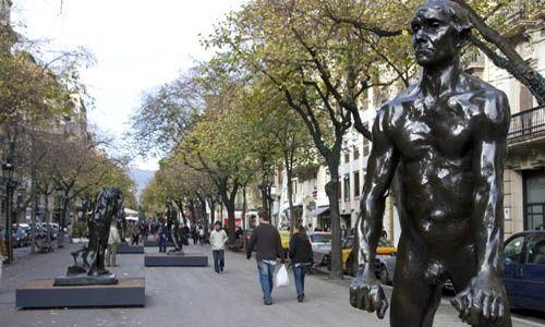 'Arte en la calle: auguste rodin'. rambla de catalunya, Barcelona
