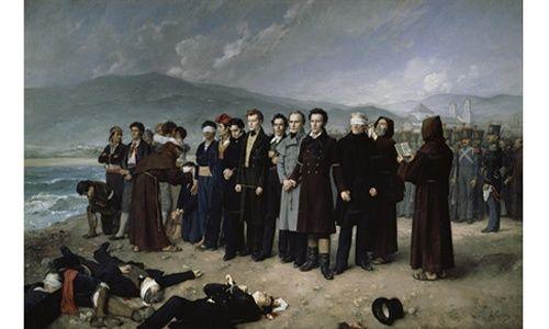 Una obra. un artista: 'Fusilamientos de torrijos y sus compañeros en las playas de Málaga', museo del prado, Madrid