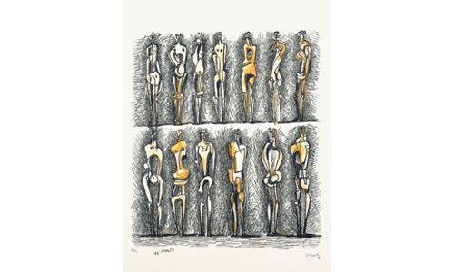 'Henry moore. obra gráfica', museo de arte abstracto español de cuenca