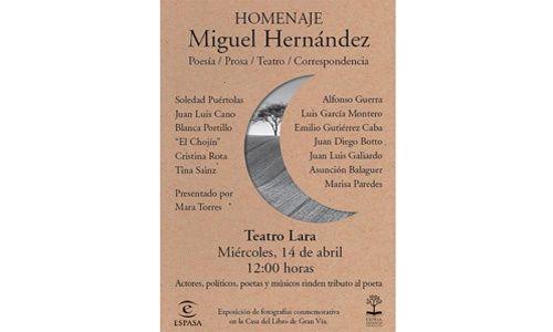 'Homenaje a Miguel Hernández', Teatro Lara, Madrid