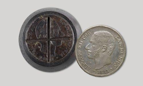'La moneda falsa: de la antigüedad al euro', museo nacional de arte de cataluña, Barcelona