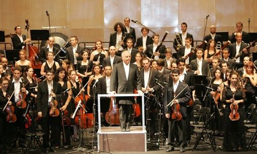 Orquesta west-eastern divan, plaza mayor, Madrid