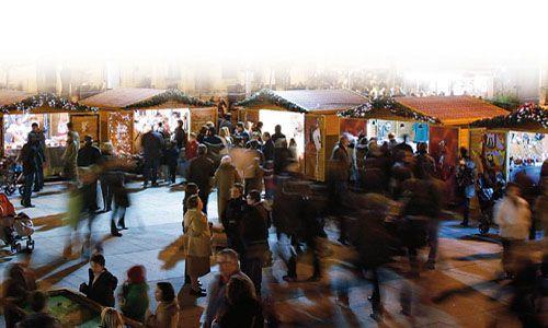 Feria de navidad, plaza del castillo, pamplona