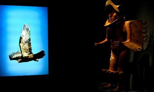 'Águila real, símbolo vivo de México'. Museo nacional de historia Castillo de Chapultepec, Ciudad de México