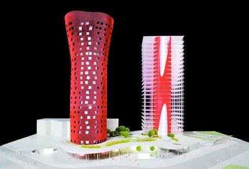 Torres y rascacielos de babel a dubai en caixa forum
