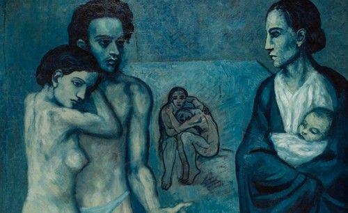 Llega a Barcelona la obra de picasso 'viaje a través del azul: la vida'