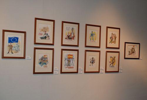 Toledo acoge la exposición 'mingote y el ejército: una vida en cuatro actos'