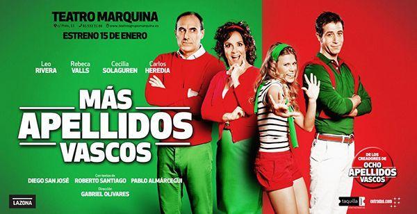 'Más apellidos vascos' llega al teatro en Madrid
