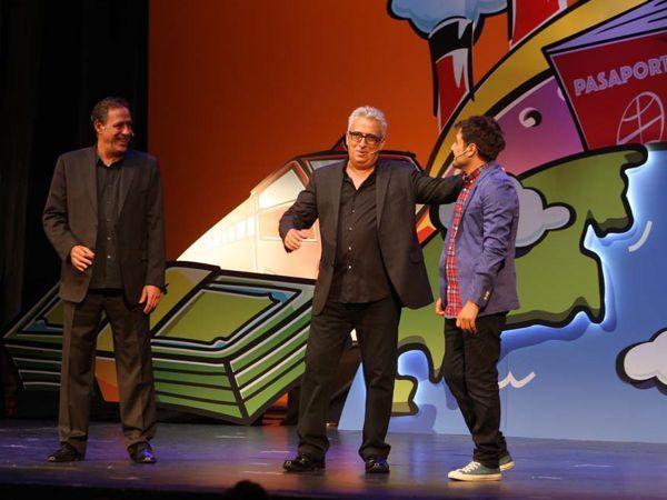 Leo Harlem, Sinacio y Sergio Olalla en 'Hasta aquí hemos llegáo'