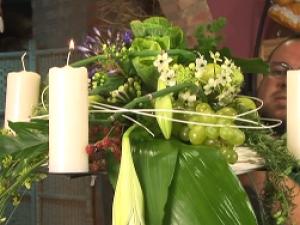 Cómo hacer un candelabro floral