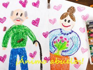 Dibujos de ánimo a los abuelos y abuelas: ¡Participa!