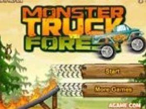 Camión monstruo vs. bosque