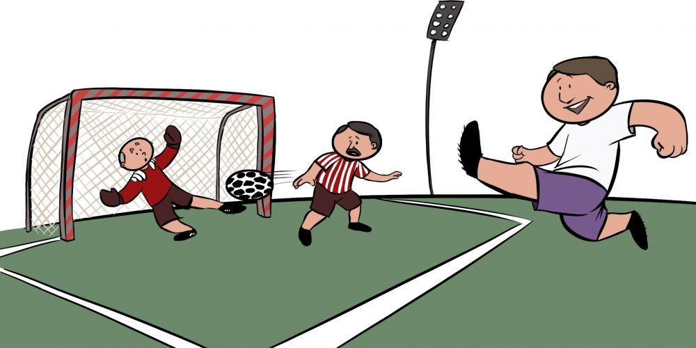 Jubilados Jugando Al Futbol