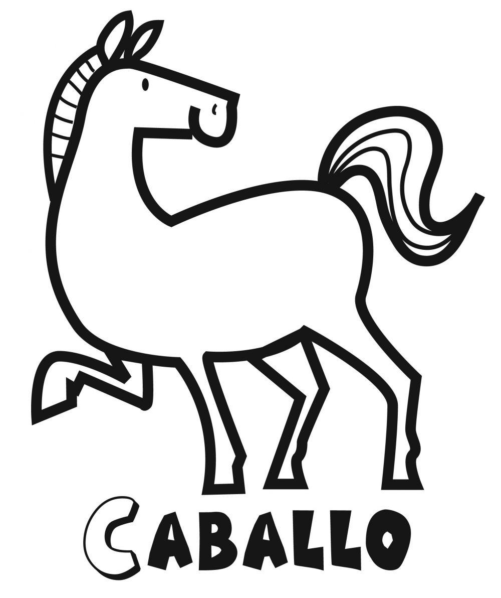 Colorear el caballo