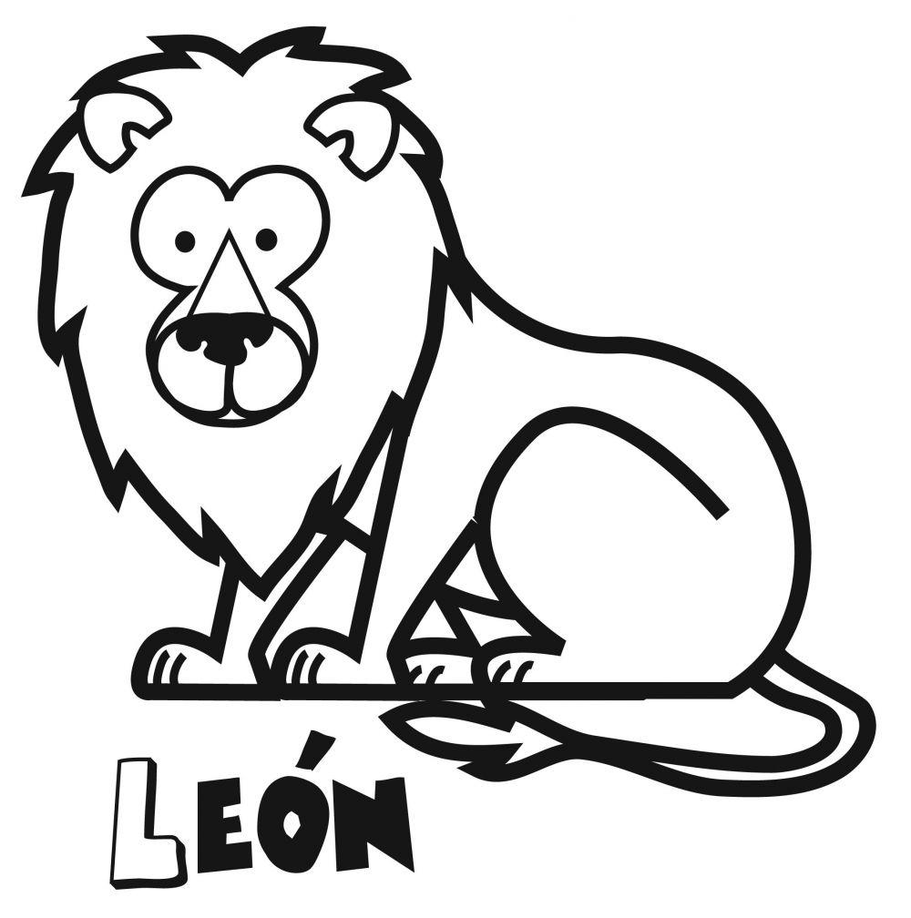 Colorear un león