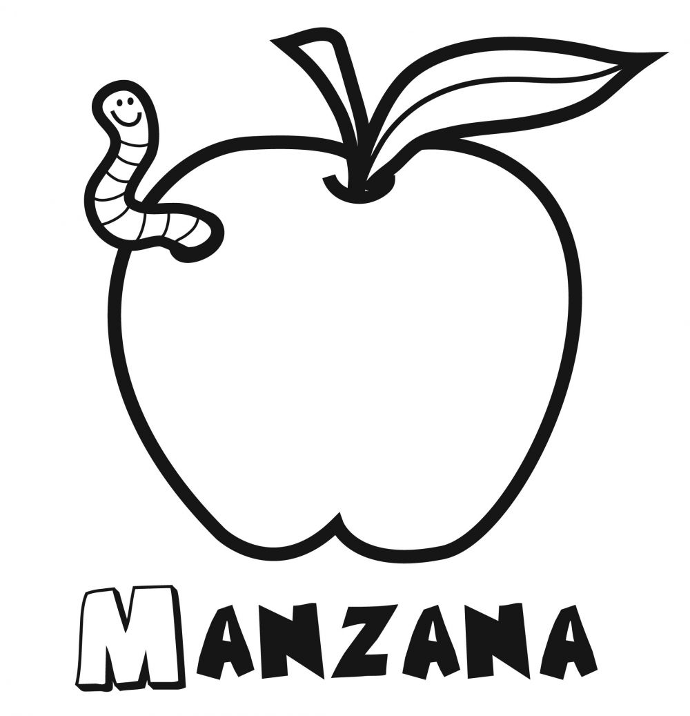 Famoso Página Para Colorear De árbol De Manzana Ornamento - Dibujos ...