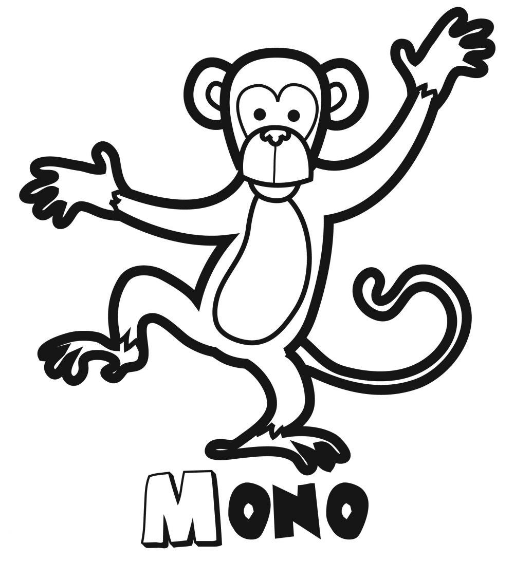 Colorear un mono