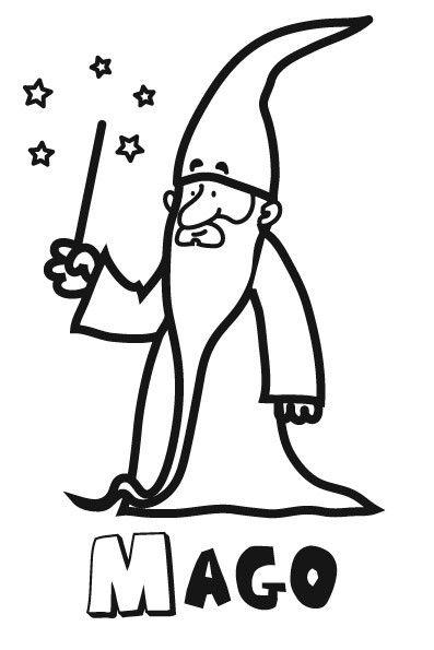 Colorear un mago