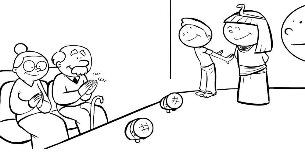 Único Página Para Colorear De Abuelos Festooning - Dibujos Para ...