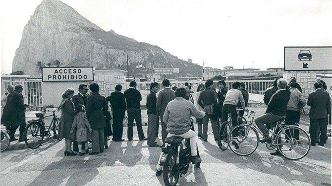Cierre de la verja de Gibraltar