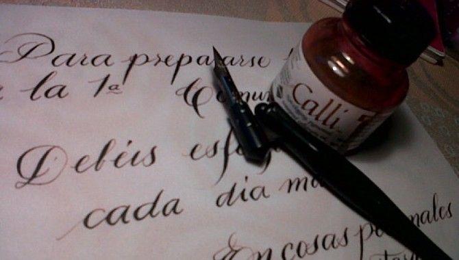 La letra con tinta entra