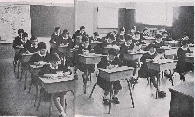 Un colegio de los años '60