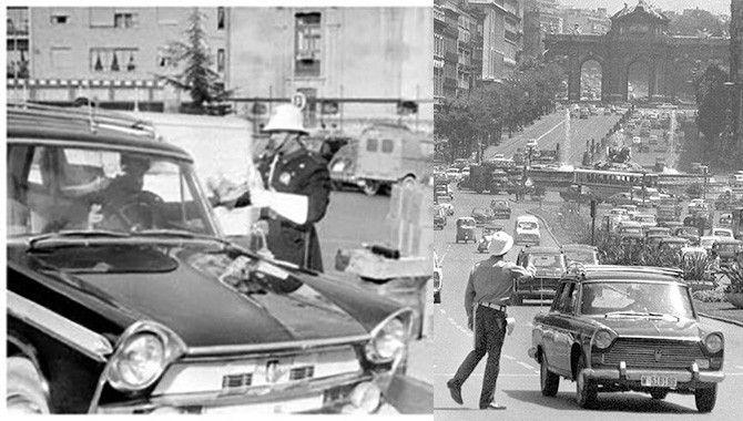 Gorras de taxistas en la Cibeles