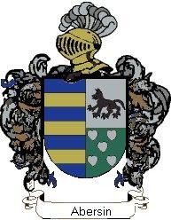 Escudo del apellido Abersin