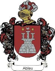 Escudo del apellido Ableu