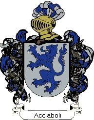 Escudo del apellido Acciaboli