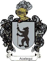 Escudo del apellido Acelegui