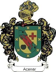 Escudo del apellido Acenar