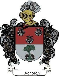 Escudo del apellido Acharan