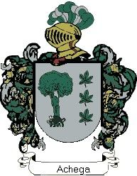 Escudo del apellido Achega