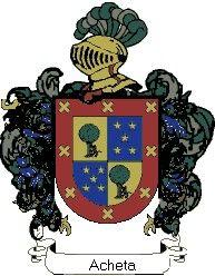 Escudo del apellido Acheta