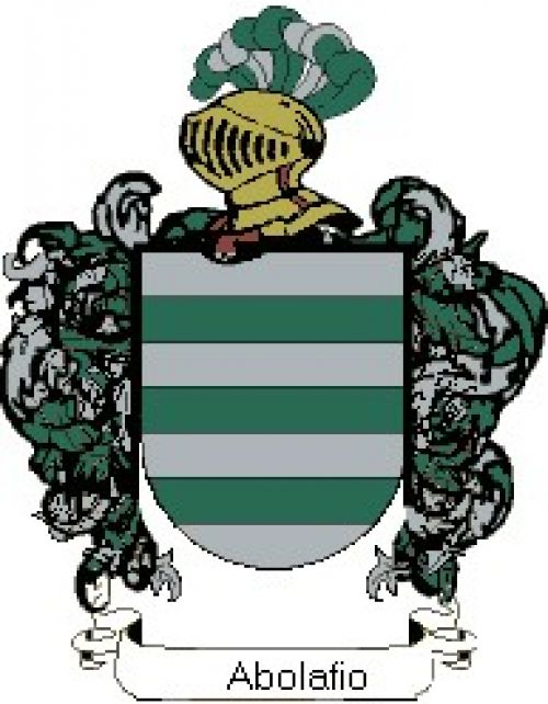 Escudo del apellido Abolafio