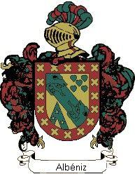 Escudo del apellido Albéniz