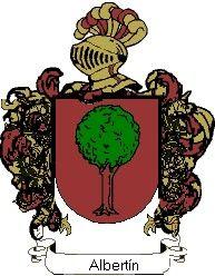 Escudo del apellido Albertín