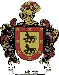 Escudo del apellido Albircio