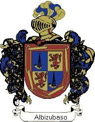 Escudo del apellido Albizubaso