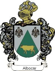 Escudo del apellido Albocar